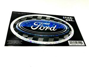Ford Racing Oval Decal Stick Onz Hologram Checkered Racing