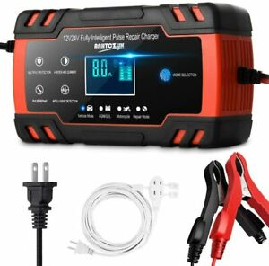 Automotive Smart Portable Car Battery Charger Maintainer Pulse Repair Charger