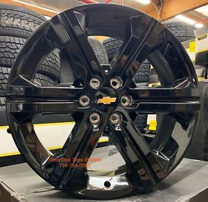 24 Gmc Sierra Denali Yukon Gloss Black Wheels Chevy Tahoe Silverado Tires New