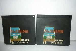 Vintage Alabama Heart Of Dixie Rubber Truck Mudflaps Mudding 4x4