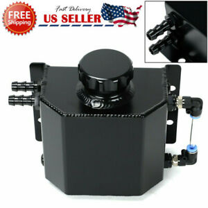 1l Aluminum Radiator Coolant Overflow Bottle Recovery Water Tank Reservoir Black