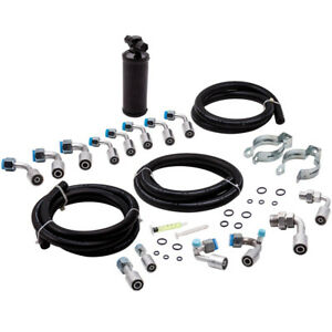 General Use 134a Air Conditioning Extended Length Ac Hose Kit Fittings Drier