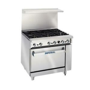 Imperial Ir 2 g24 36 In 2 burner Gas Range W Griddle And Standard Oven