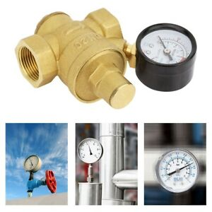 Dn20 3 4 Adjustable Brass Water Pressure Reducing Regulator Valves Gauge Meter