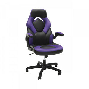 Racing Car Style Gaming Chair Bonded Leather Cover High Back Swivel Desk Seat