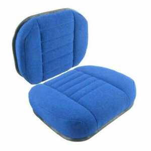 Seat Cushion Set Blue Fabric Compatible With Ford 7910 7710 7700 8210 6700 6710