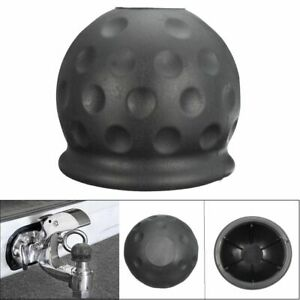 50 8mm Black Plastic Universal Tow Bar Ball Cover Cap Car Towing Hitch Caravan