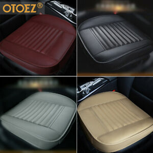 Luxury Leather Car Seat Cover Front Seat Bottom Universal Fit Sedan Suv Truck