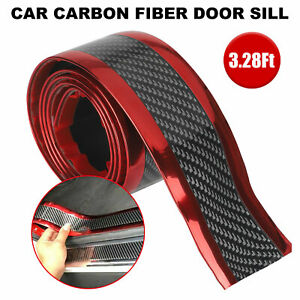 Protector Sill Scuff Cover Car Door Carbon Fiber Sticker Body Anti Scratch Strip