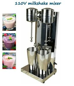Double Head Stainless Steel Milkshake Mixer Milk Shake Maker Machine 110v 180w