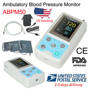 Blood Pressure Monitor 24 Hours Recorder Ambulatory Nibp Holter 3 Cuffs software
