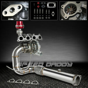 T04e 5pc Turbo Kit Cast Manifold Downpipe 88 00 D15 D16 Honda Civic Crx Ee Ej Ek
