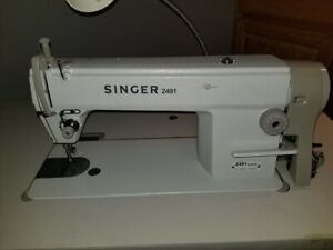 Singer Sewing Machine Model 2491 Pre owned W Table And Servo Motor Commercial