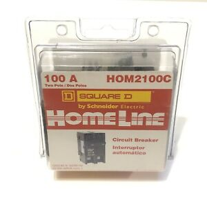 Homeline Square D Hom2100c 2 Pole 100 Amp 120 240v Circuit Breaker Brand New