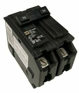 Square D 70 Amp Homeline Circuit Breaker 2 Pole Hom270 New Fast Shipping