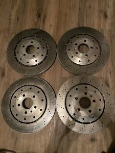 Audi Oem Lightly Used R8 Rs5 Gallardo Front Pair Brake Rotors 420615301d