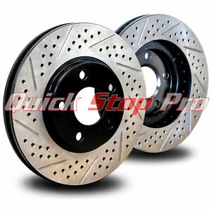 For042rd Mustang Cobra Mach1 Bullitt 94 04 Performance Rotors Rear Double Drill