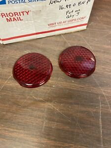 1937 38 Plymouth Glass Tail Light Lenses New Pair 1020