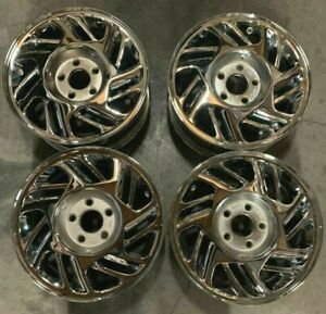 1989 1993 Ford Thunderbird Wheels Rims 15 Inch 5x108 Hollander 1677 Chrome