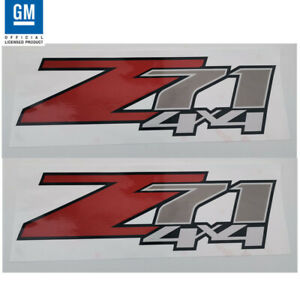 2pc Z71 4x4 F Chevy 07 13 Decal Sticker Parts For Silverado Gmc Sierra Truck