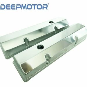 Small Block Chevy Fabricated Aluminum Valve Cover For Sbc 350 400 265 283 Sliver