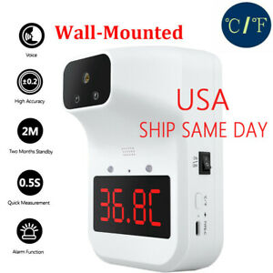 Fast Automatic Wall mounted Office Non contact Digital Forehead Thermometer Usa
