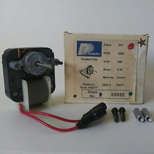 Packard 65692 C frame Motor 240 Volts 0 40 Amp 3000 Rpm 5 8 Stack New