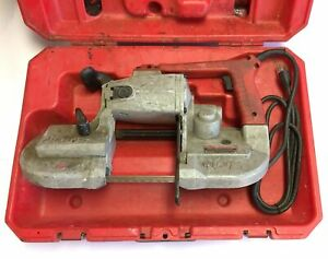 Milwaukee 6230 Heavy Duty Band Saw W case Variable Speed 0 350 Fpm 120vac 6a
