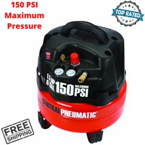 Portable Oilless Air Compressor 6 Gallon Pancake Style Tank Pneumatic Power Tool