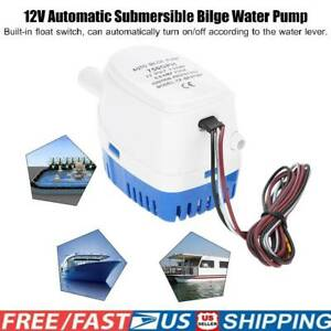 12v 750gph Boat Marine Automatic Submersible Bilge Auto Electric Water Pump