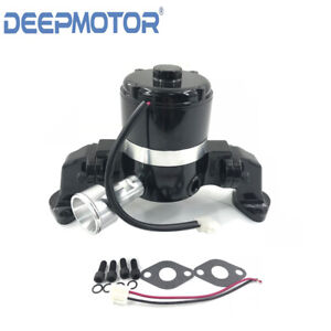 Big Block Chevy High Flow Aluminum Electric Water Pump Bbc 396 454 502 Black