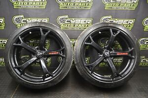 2012 370z Nismo Wheels Rays Forged 19x9 5 Front Pair Michelin Super Sport 245 40