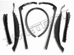 Metro Moulded Parts Rr2005 Top Rail Seals Kit 1962 64 Chevy Corvair Convertible