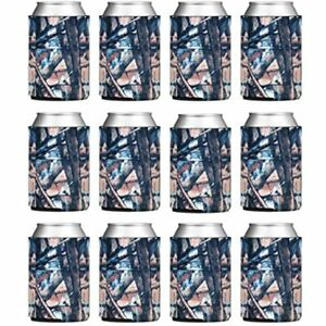 Tahoebay 12 Blank Beer Can Coolers Plain Bulk Collapsible Soda Cover Coolies