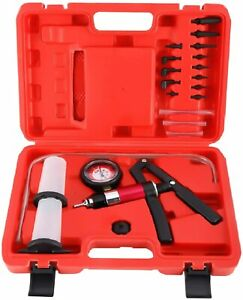 Car Hand Held Vacuum Pressure Pump Tester Kit Brake Fluid Bleeder Bleeding Tool