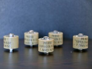 Rf Ceramic Doorknob Capacitor 50pf 7 5kv ph 850