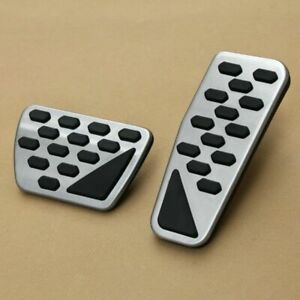 Supercharged Foot Pedal Cover Kit For Jeep Wrangler Jl Sport Brake Rubber Stainl