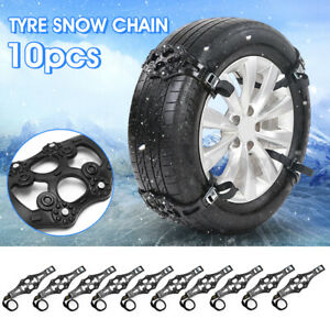 10 Pcs Snow Tire Chains For Car Truck Suv Anti skid Emergency Winter Driving Tpu