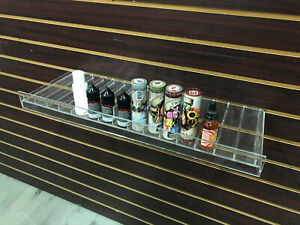 Clear Slatwall Shelves 24 X 8 75 Retail Display To Fit 1 Oz Boston Rounds