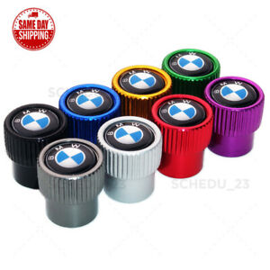 For Bmw Roundel Style Car Wheel Tire Air Valve Cap Stem Dust Cover M Power Sport