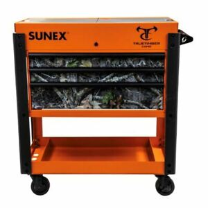 Sunex 8035xtkanatior Tools 3 Drawer Slide Top Utility Cart With Power Strip Or