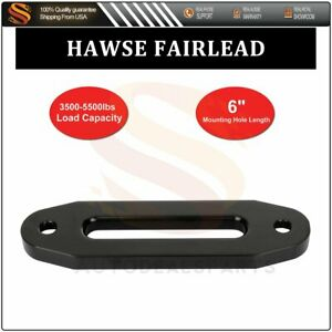 6 Universal Bolt Pattern Black Hawse Fairlead For Synthetic Winch Rope