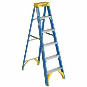 Werner 6006 6 Fiberglass Step Ladder Multi Traditional Country Global