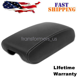 Leather Center Console Lid Armrest Cover For 11 19 Jeep Grand Cherokee Black