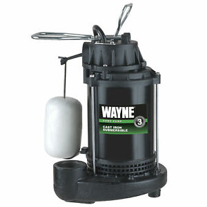 Wayne Cdu 790 1 3 Hp Cast Iron Submersible Sump Pump With Automatic Switch