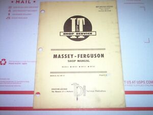 Mf205 Mf210 Mf220 Massey Ferguson Tractor I t Shop Manual W Wiring Diagrams