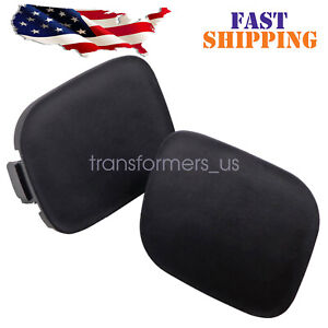 For 2010 2011 Toyota Prius Front Bumper Tow Hook Eye Cap Cover Pair