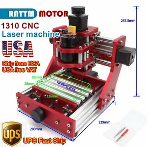 in Usa 1310 Mini Desktop Engrave Full Metal Cutting Milling Machine Cnc Router