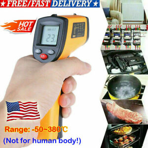 Portable Digital Thermometer Infrared Temperature Gun Non contact Ir Laser Fast
