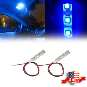 Ultra Blue 12v 5050 Smd Led Strip For Car Interior Motorcycle Atmosphere Lights